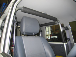 Rail Technologies rail inspection vehicle 76 Series Toyota Landcruiser Roll Over Protection System (ROPS)