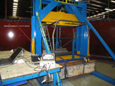 Brown Davis ROPS Test Rig - Ford Ranger Rear Hoop - Under 12.71 tonne of pressure
